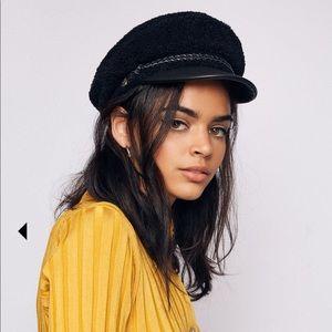 NWT Brixton Black Ashland Cap Hat, Sz XS